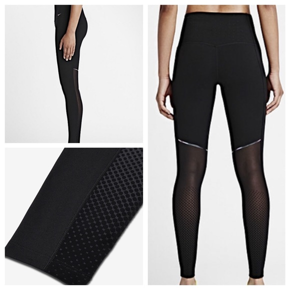 28% off Nike Pants - Black & Mesh Nike Leggings from ! kenz's ...