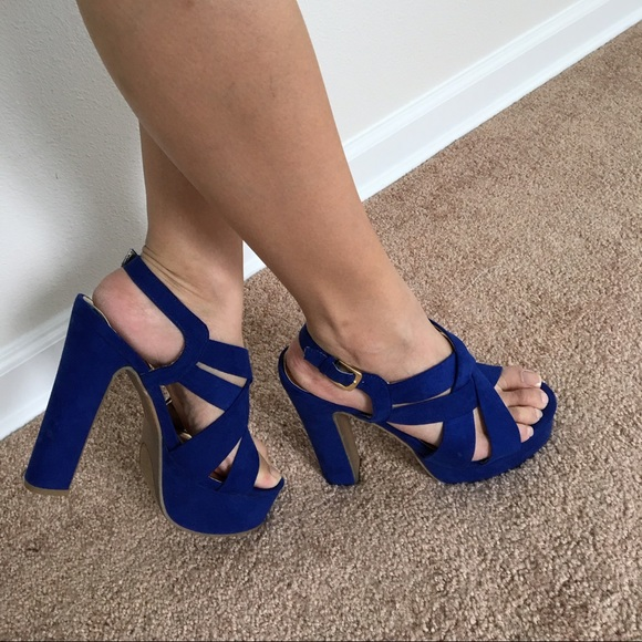 Mossimo Supply Co. - Cobalt blue chunky heels from Katrine's ...