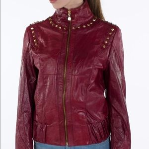 Gaurapo Women's Geniune Leather Studded Jacket.