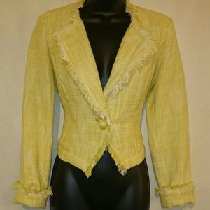 SALE! CAbi Yellow Tweed Daisy Jacket