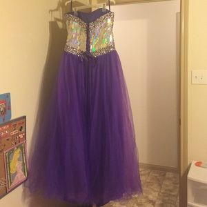 Dresses Purple Sparkly Prom Dress Poshmark