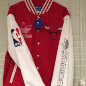 0c73e578 Men's Adidas Chicago Bulls Wool Varsity Jacket NWT