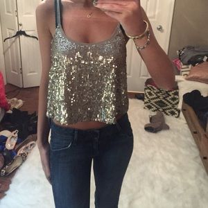 Abercrombie & Fitch Tops - LAST CHANCE --Sparkly tank