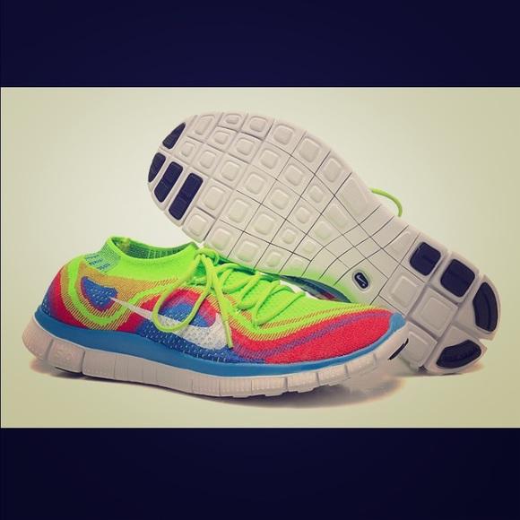 new style 7605f 409be Nike Free 5.0 Flyknit Rainbow. M 56e37bfffbf6f9e8a900a385