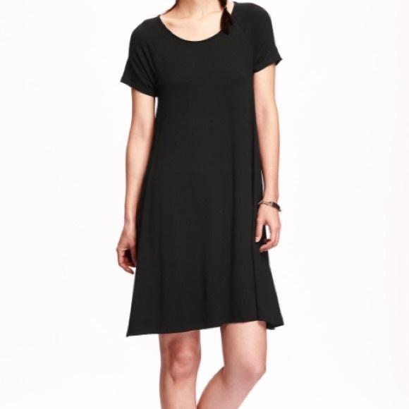a70fc8eb7813b Old Navy Dresses | Final Price Nwt Black Jersey Swing Dress | Poshmark