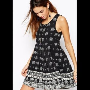 ASOS Dresses & Skirts - Button up elephant print dress from Asos - NWT