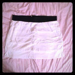 EXPRESS White Layered Mini Skirt