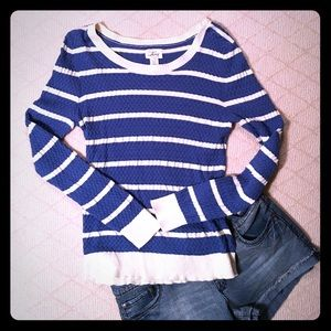 Cute‼️Sporty, Soft, Striped Sweater