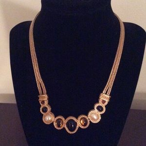 Jewelry - Gold, Brown & Black Adjustable Necklace