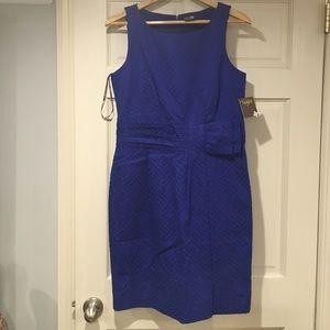 NWT Taylor Royal Blue Sheath Dress 12