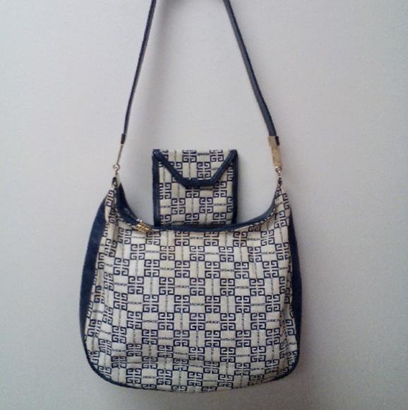 Givenchy Handbags - Givenchy navy Purse and wallet set 318b71304cf62