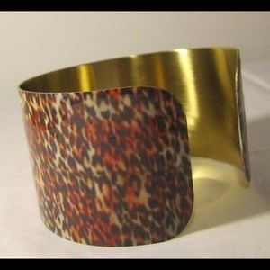 ANIMAL PRINT CUFF  BRASS MADE HIGH IN QUALITY