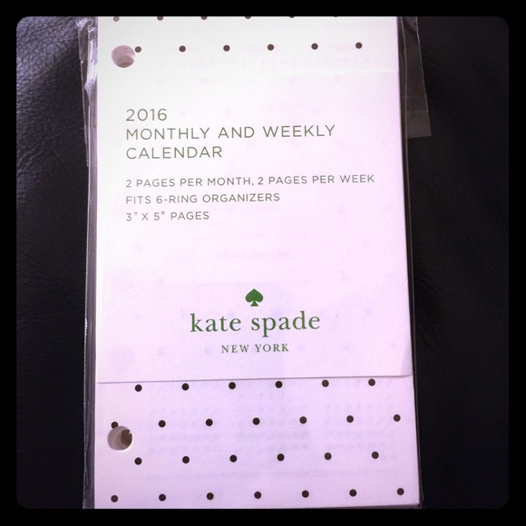 kate spade accessories pocket size planner refills poshmark