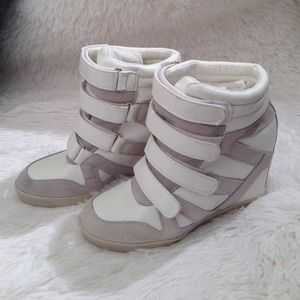 BDG Shoes - Urban Outfitters BDG Quarter Strap Hi Top Wedge