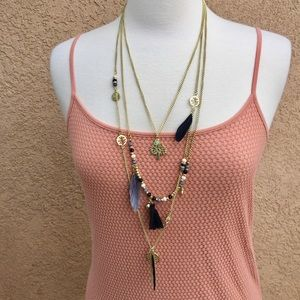 T&J Designs Jewelry - T&J Three Layer Charm Necklace