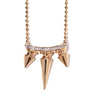 nOir Jewelry Jewelry - Noir Metal Mix Spiked Necklace 18k gold crystal