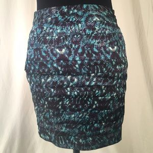 Multicolored Layered Skirt