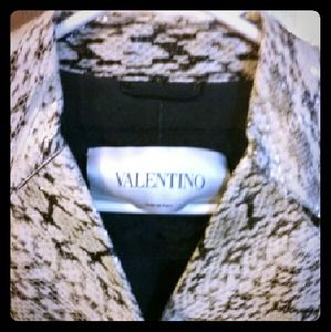 Valentino snake skin trench coat