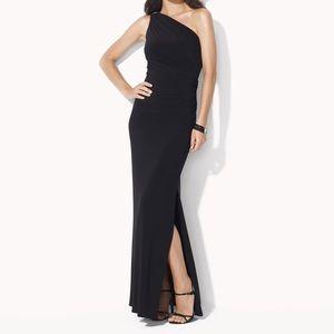 Ralph Lauren Black One shoulder Evening gown