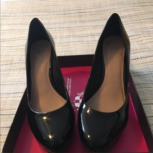 Vince Camuto black patent heels.