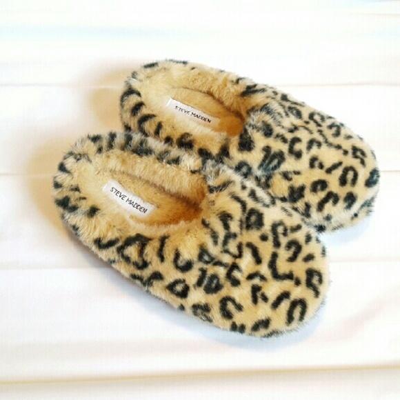 Steve Madden Leopard Slippers Sz