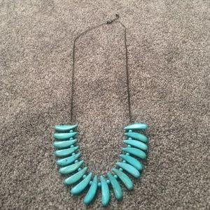 Blue Long Statement Necklace