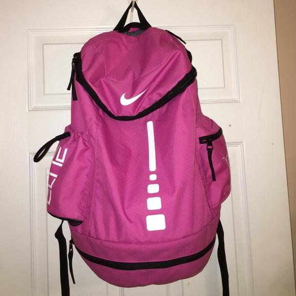 pink nike elite backpack