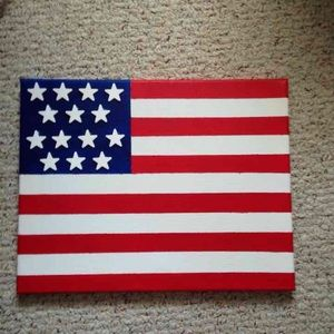 Accessories - American Flag Canvas Painting