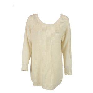 Bar III Sweaters - Bar iii ivory scoop neck tunic sweater