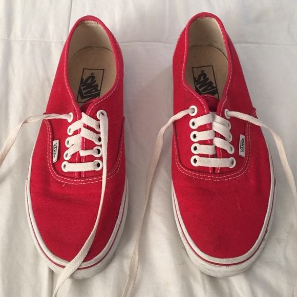 58d44310cf Vans Shoes - Red vans sneakers