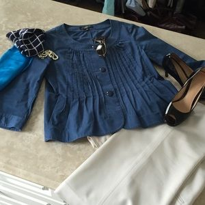 Talbot  Jackets & Blazers - SALE! Talbots Dutch Blue Jacket/Top