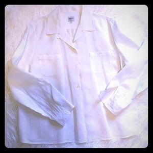 Luxury linen Armani collezioni button Down shirt