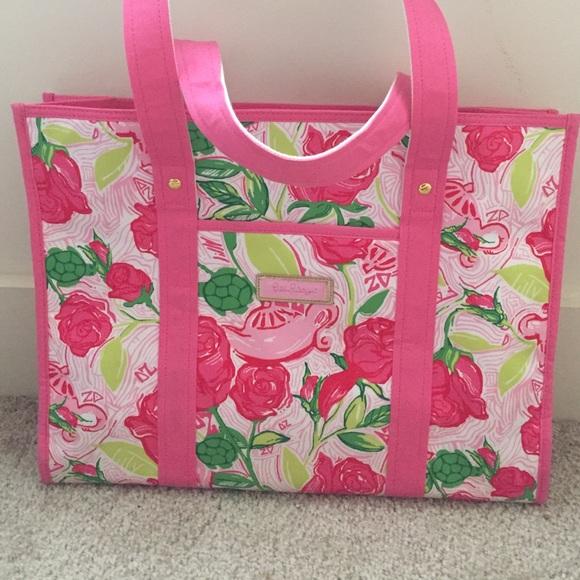 dd91118caaac5a Lilly Pulitzer Handbags - DELTA ZETA LILLY PULITZER TOTE BAG!