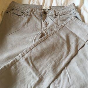 Denim - Light gray/tan color skinny jeans