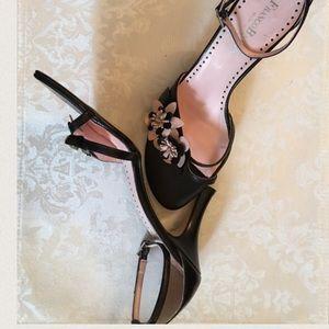Franco Barbieri Shoes - Italian Leather Black w light pink