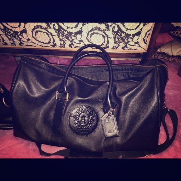 Versace Bags   Duffle Bag Large Black And Gold Hardware   Poshmark 3f2bdb9d0a