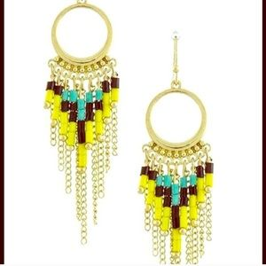 Bead new tribal fringe earrings