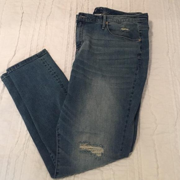 7838533f2ea Ava   Viv Denim - Ava   Viv plus size distressed skinny jeans