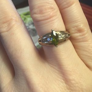 Jewelry - Peridot and CZ's in .925 Silver