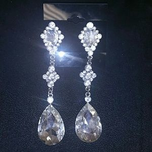 Jewelry - Crystal formal pageant earring