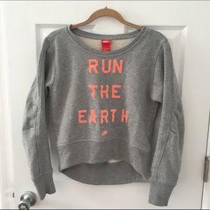 Nike hi-lo cute sweater