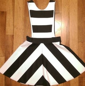 ASOS Black and White Striped Dress