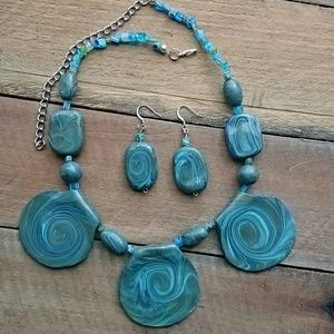 Summer Swirl Clay Necklace Set