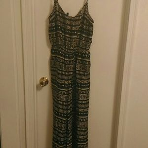 H&M wide leg tribal pattern romper