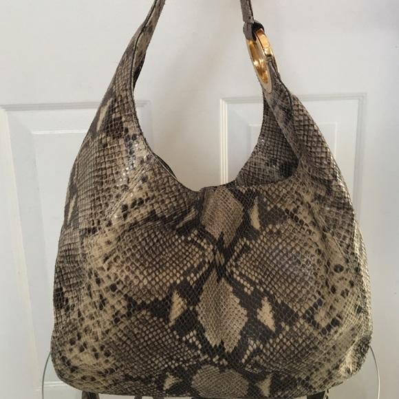 0377e41d0fbe LOWER PRICE Michael Kors snakeskin shoulder bag. M 56e46fe113302a018d02111d