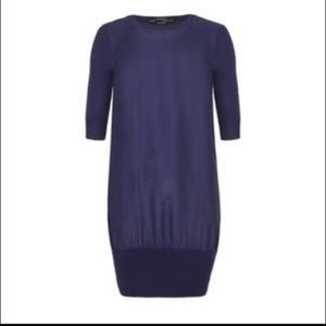 All Saints 100% silk dress with 3/4 sleeves