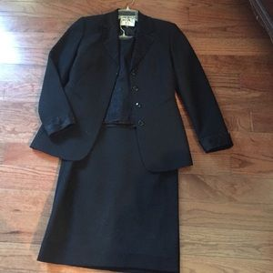 3 piece suit with shimmer collar and camisole