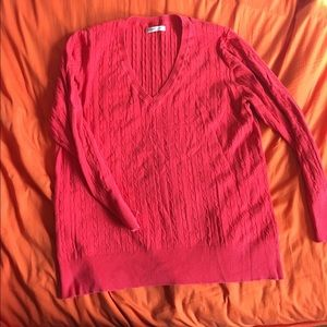 Coral Old Navy Cable Knit Design Sweater, Size XXL