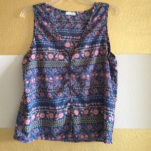 Everly Floral Button down Tank Top