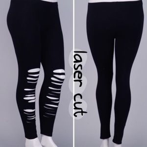 tla2 Pants - PLUS SIZE LASER CUT LEGGINGS